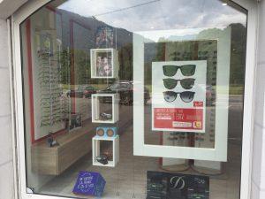 Vitrine du magasin de lunettes