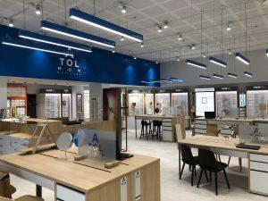 Atol lunettes optique magasin néon spot bureaux vitrines