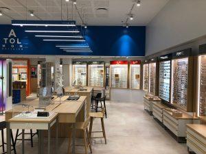 Atol lunettes optique magasin vitrines lumineuse