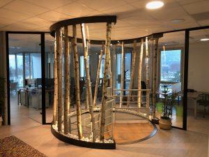 Compagnie Alpes espace nature design patio escalier boulot bois pierres colimaçon spots