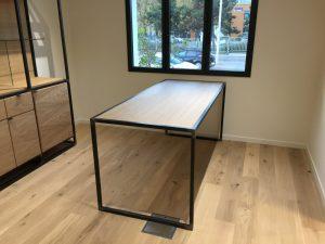 Mobilier bois et métal de bureaux commerciaux
