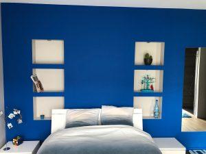 Maison cubes viviers niches chambre tête de lit