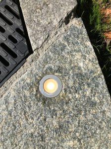 Sirius spot pierre encastré escalier extérieur