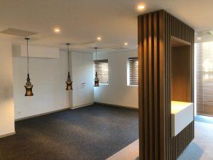 Val Vital thermes espace détente éclairage individuels spots suspendus niche bois tendance design