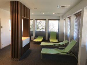 Val Vital thermes espace detente spot éclairage doux tendance bois design