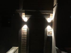 appliques en facade extérieur éclairage sablier