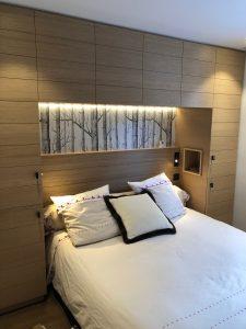 niche tête de lit spot chambre double