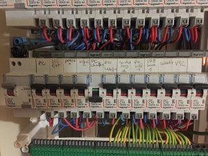 repérage des disjoncteurs dans le tableau électrique
